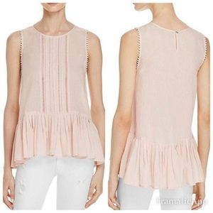 Velvet By Graham & Spencer Blush Peplum Blouse XS